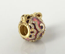 Genuine Pandora Limited Edition Bright Ornament Charm 14K Gold Plated 796259EN07