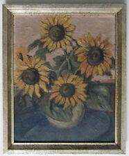 Expressionist.Stilleben - Sonnenblumen, signiert