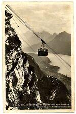 CPSM 74 Haute Savoie Téléphérique de Veyrier Menthon et Massif des Bauges