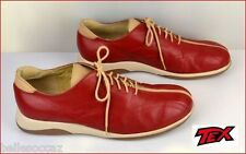 TEX Chaussures Taille 41 Rouge Cerise & Beige Sable !