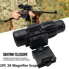 3 Times Magnifier Scope with FTS Flip to Side Mount Fits Holographic and Sight