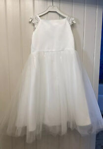 GIRL'S IVORY FLOWER GIRL, WEDDING, PARTY, DRESSING UP DRESS,  AGE APPROX 6 YRS