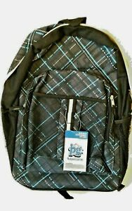 Backpack Blue Basic Canvas Travel Bag New School Satchel Hiking Shoulder Camping