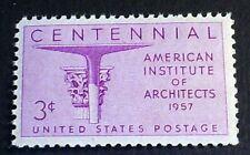U.S. Scott 1089- American Institute of Architects- MNH OG F-VF 3c 1957