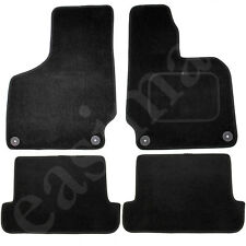 Audi TT Mk2 8J 2006-2014 Fully Tailored Black Carpet Car Mats 4pc Floor Mat Set