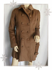 Manteau Court Fantaisie Marron Col Amovible DDP Taille S 36 / 38  Neuf