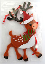 """Christmas ornament pull string dancing reindeer 6½"""" tall 00006000  New Holiday Time"""