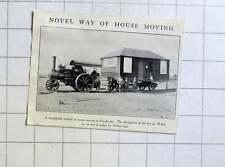 1928 30 Foot Hut At Hucclecote Being Moved By Large Traction Engine