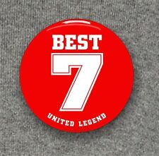 George Best - United Legend - Large Button Badge - 58mm diam