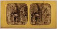 Francia Parigi Palais Lussemburgo c1865 Foto Stereo Diorama Vintage Albumina
