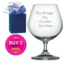Personalised Engraved Brandy Glass Birthday Gift - Any Age - Any Occasion