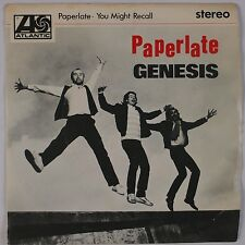 GENESIS: Paperlate USA ATLANTIC Stereo 45 w/ PS Phil Collins, Peter Gabriel