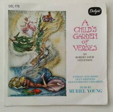 "A Child's Garden Of Verses 7"" Read By Muriel Young Delude Del175 1966 EX"