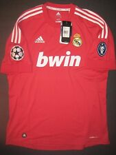 New 2011-2012 Adidas Real Madrid Champions League Jersey Shirt Kit Red Ronaldo L