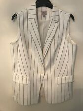 M&S Collection Lined Cream and Black Pinstripe Waistcoat 14