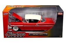 1958 Chevrolet Impala Showroom Floor Red 1/24 Diecast Car Model By Jada 98896
