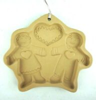 Cookie Art Clay Mold Ginger Bread Boy & Girl Brown Bag Hill Design