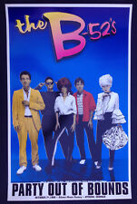 The B-52's Party Out Of Bounds live in Athens GA original Oct 7,1999 poster!!!