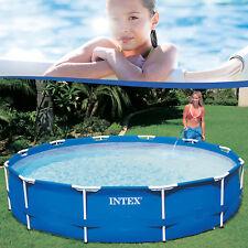 Intex 366x76 Swimming Pool Frame Stahlwandbecken Schwimmbecken Schwimmbad 28210
