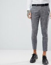 Gianni Feraud Skinny Fit Nepp Cropped Suit Trousers Size 36W 32L RRP £75 New