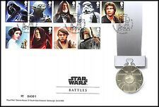 """Great Britain Star Wars """"Battles"""" Medal Cover Collectible Set, 28.28 g CuNi,2015"""