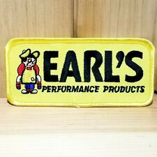 """Earl's Performance Products Auto Racing Parts Yellow 4"""" Long Embroidered Patch"""