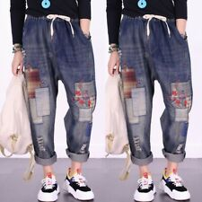 b9855f539e913 Casual Womens Denim Ripped Pants Loose Jeans Harem Trousers Spring Jean One  Size