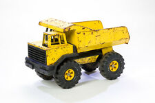 Tonka Turbo Diesel Dump Truck Pressed Metal XMB 975 Tires Vintage Yellow