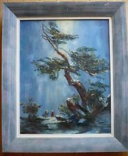 BEUKEMA, IMPRESSIONISM MODERN MODERNISM 1950s 50s OIL CHINESE ASIAN INFLUENCE