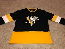 REEBOK PITTSBURGH PENGUINS LONG SLEEVE NHL HOCKEY JERSEY SHIRT  Size: Large
