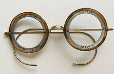 TRUE ANTIQUE PAIR OF VICTORIAN EYEGLASSES EYE SPECTACLES WIRE RIM GOLD FILLED 2
