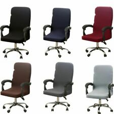 Office Computer Chair Cover Stretch Rotating Mid Back Chair Slipcovers Protector