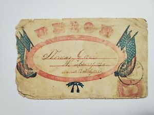 1864 Civil War Patriotic Restore The Union Oval Flags Cov. Kentucky Mulberry IL