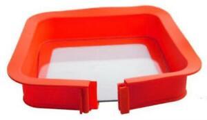 Silikon Springform Quadrat mit Glasboden Pavoni Antihaft spülmaschinengeeignet