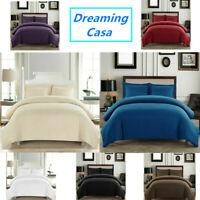Soft Duvet Cover Comfort 1800 Count Microfiber 3 P Deep pocket Bed Sheet Set H2