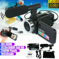 Full 1080P 24MP 18X Zoom 3'' LCD Digital Camcorder Video Camera Recorder Mic