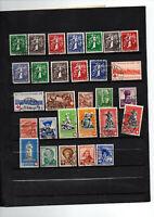 29 timbres de Suisse du no 329 à 357