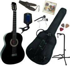 Pack Guitare Classique 4/4 (Adulte) Avec 7 Accessoires (noire)