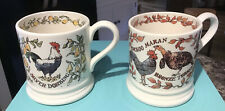 Emma Bridgewater Farmyard Birds -Boxed Set Of Two 1/2 Pint Mugs. First /New