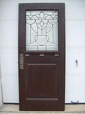 Arts & Crafts entrance door urn leaded glass figure (Door E)