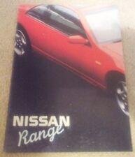 Nissan folleto 1990 300 ZX 200SX patrulla Cabstar recoger Maxima Prairie soleado