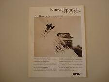 advertising Pubblicità 1996 OPEL FRONTERA 2.5 TDS 115 CV