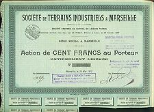 ACTION TERRAINS INDUSTRIELS A MARSEILLE 1912