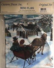 Custom Decor Inc Mini Garden Flag, Sleigh Scene, NEW In Package, Great Gift!