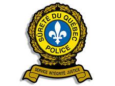 4x4 inch SURETE DU QUEBEC POLICE Insignia Shaped Sticker - canada logo ca crest
