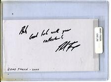 Autographed Signed Brad Faxon PGA cut jhaut