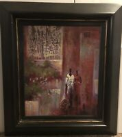 EAMES SIGNED ABSTRACT MODERN ORIGINAL OIL PAINTING LARGE ON CANVAS CHUNKY FRAME