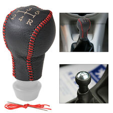 Genuine Leather 5-Speed Gear Shift Knob Cover for Peugeot 307 308 Citroen C2 C4
