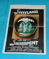 original SSSSSSS Belgian movie poster Dirk Benedict