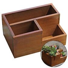 Wooden Garden Window Box Trough Planter Succulent Plant Flower Bed Pot Decor